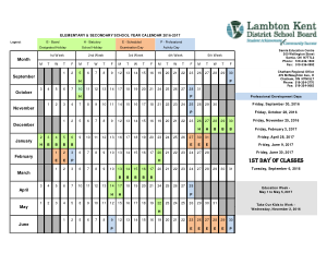 Free PDF Books, Secondary School Yearly Calendar Template
