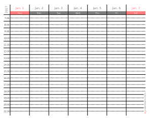 Free PDF Books, 2017 Weekly Appointment Calendar Template