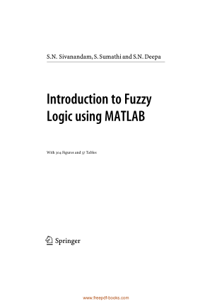 Free Download PDF Books, Introduction To Fuzzy Logic Using MATLAB