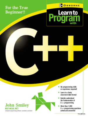 Learn To Program With C++, Learning Free Tutorial Book