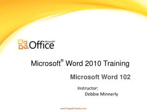 Free Download PDF Books, Microsoft Word 2010 Training
