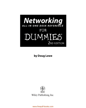 Free Download PDF Books, Networking All In One Desk Reference For Dummies 2nd Edition