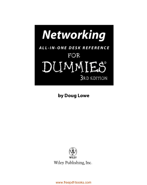 Free Download PDF Books, Networking All In One Desk Reference For Dummies 3rd Edition