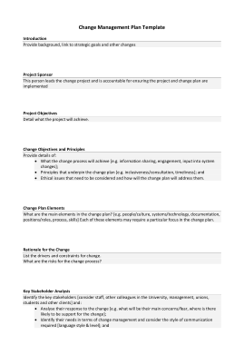 Free PDF Books, Project Change Management Plan Template
