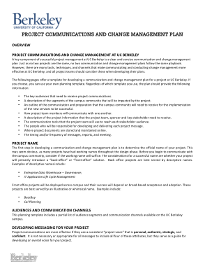 Free PDF Books, Project Communication And Change Management Plan Template