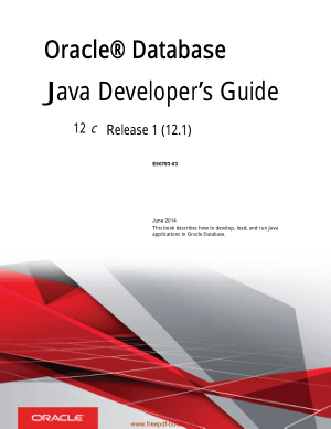 Oracle Database Java Developers Guide Book | Free PDF Books
