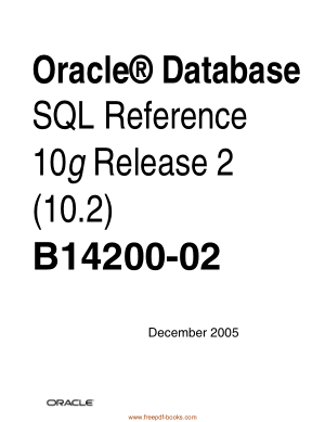 Oracle Database SQL Reference 10g Release 2