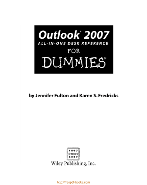 Free Download PDF Books, Outlook 2007 All In One Desk Reference For Dummies