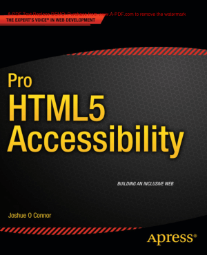 Free Download PDF Books, Pro HTML5 Accessibility, HTML5 Tutorial Book