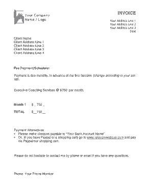 Free PDF Books, Business Invoice Sample Template