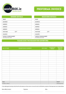 Free PDF Books, Business Proforma Invoice Template