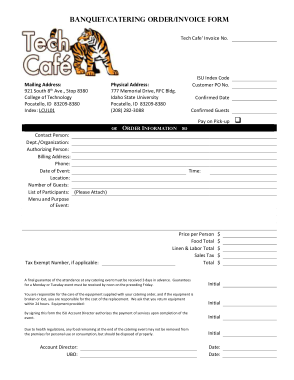 Free PDF Books, Catering Invoice Free Sample Template