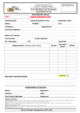 Free PDF Books, Free Catering Invoice Sample Template