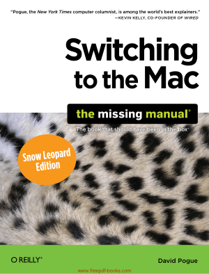 Free Download PDF Books, Switching To The Mac The Missing Manual Snow Leopard Edition