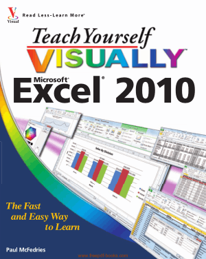 Free Download PDF Books, Teach Yourself Visually Microsoft Excel 2010