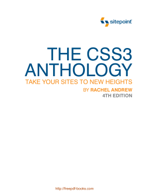Free Download PDF Books, The CSS3 Anthology 4th Edition