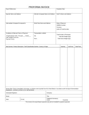 Free PDF Books, Generic Proforma invoice Sample Template