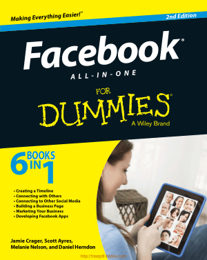 Facebook All In One For Dummies 2nd Edition
