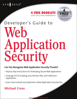 Free Download PDF Books, Web Application Security