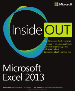 Microsoft Excel 2013 Inside Out, Excel Formulas Tutorial