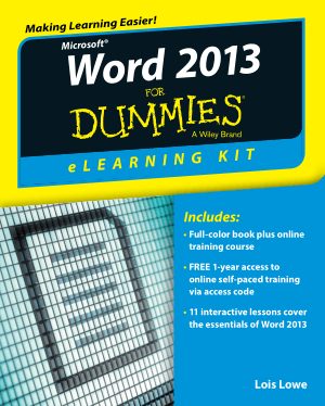 Free Download PDF Books, Word 2013 eLearning Kit For Dummies