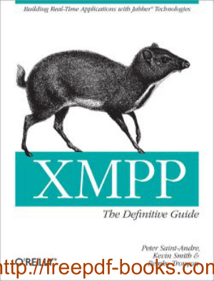 Free Download PDF Books, XMPP The Definitive Guide Book