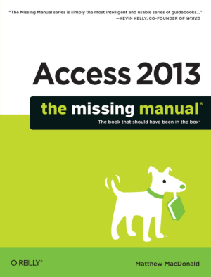 Free Download PDF Books, Access 2013 The Missing Manual