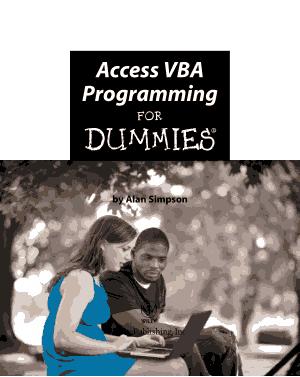 Free Download PDF Books, Access Vba Programming For Dummies