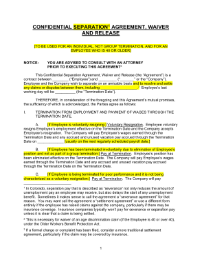Free PDF Books, Confidential Employment Separation Agreement Sample Template