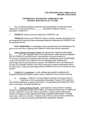 Free PDF Books, Confidentiality Employee Separation Agreement Template