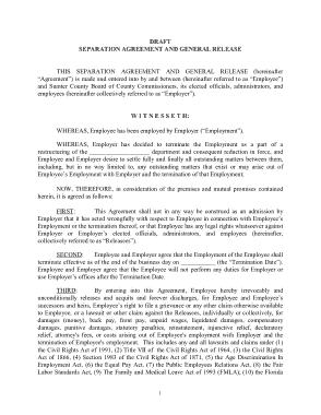 Free PDF Books, Draft Employment Separation Agreement Template