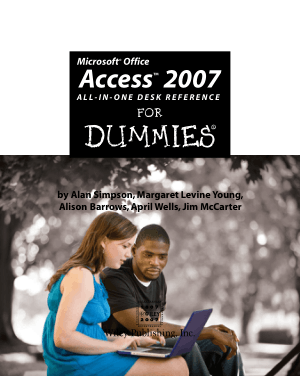 Free Download PDF Books, Microsoft Office Access 2007 All In One Desk Reference For Dummies, MS Access Tutorial