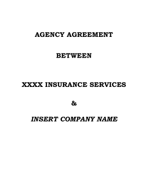 Free PDF Books, Business Agency Agreement Between Insurance Services Template