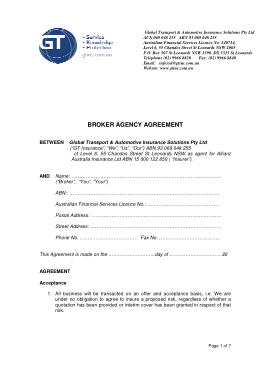 Free PDF Books, Business Broker Agency Agreement Template