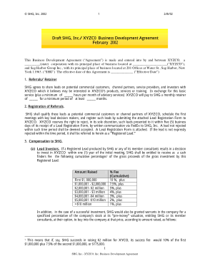 Free PDF Books, Business Development Agency Agreement Template