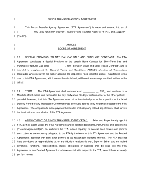 Free PDF Books, Business Transfer Agency Agreement Template