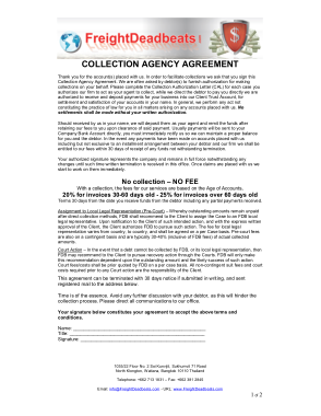 Free PDF Books, Collection Agency Business Agreement Template