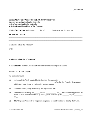 Free PDF Books, Commercial Construction Contract Agreement Template