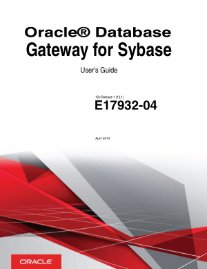 Free Download PDF Books, Oracle Database Gateway For Sybase