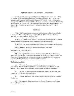 Free PDF Books, Commercial Construction Management Agreement Template