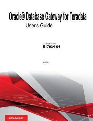 Free Download PDF Books, Oracle Database Gateway For Teradata