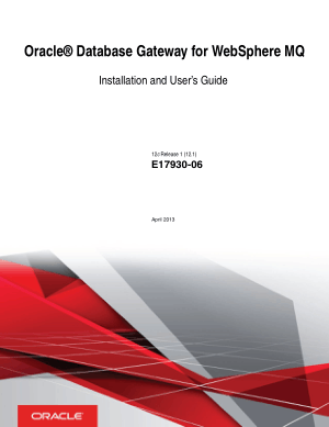 Oracle Database Gateway For Websphere Mq