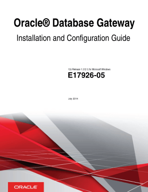 Oracle Database Gateway Installation And Configuration Guide For Windows