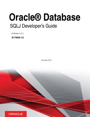 Free Download PDF Books, Oracle Database SQLj Developers Guide