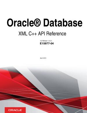 Free Download PDF Books, Oracle Database XML C++ API Reference