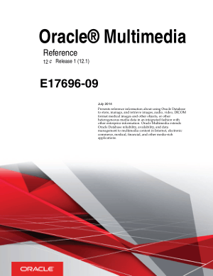 Oracle Multimedia Reference
