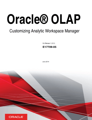 Oracle Olap Customizing Analytic Workspace Manager