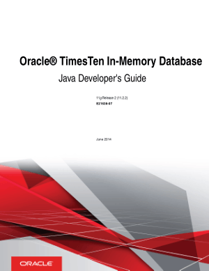 Free Download PDF Books, Oracle Timesten In Memory Database Java Developers Guide