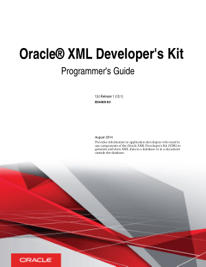 Free Download PDF Books, Oracle XML Developers Kit Programmers Guide