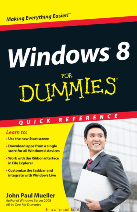 Free Download PDF Books, Windows 8 For Dummies Quick Reference